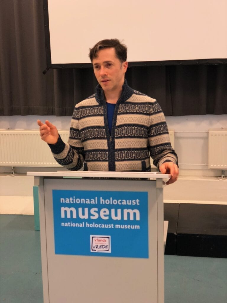 Yuval speaking holocaust museum